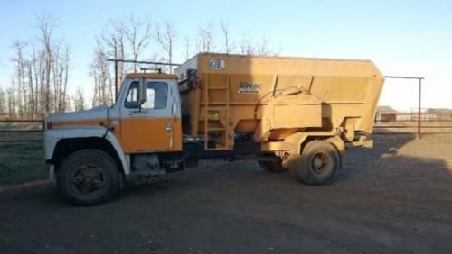 1982 International Diesel Feed Truck