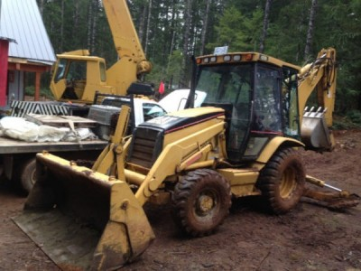 2001 CAT 4200 4x4 Backhoe Loader