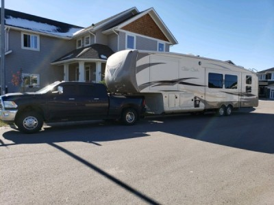 2012 Forest River Cedar Creek + Dodge 1 Ton Mega Cab Dually Truck Combo
