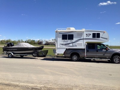 2014 Artic Fox Camper + Ford F-350 + Lund Boat